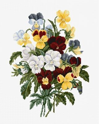Luca-S Bouquet of Pansies