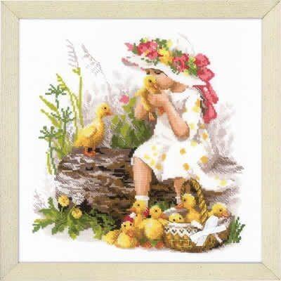 Riolis Girl with Ducklings