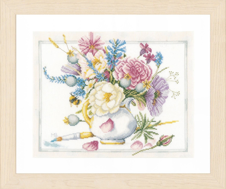 Lanarte Flowers in White Pot by Marjolein Bastin