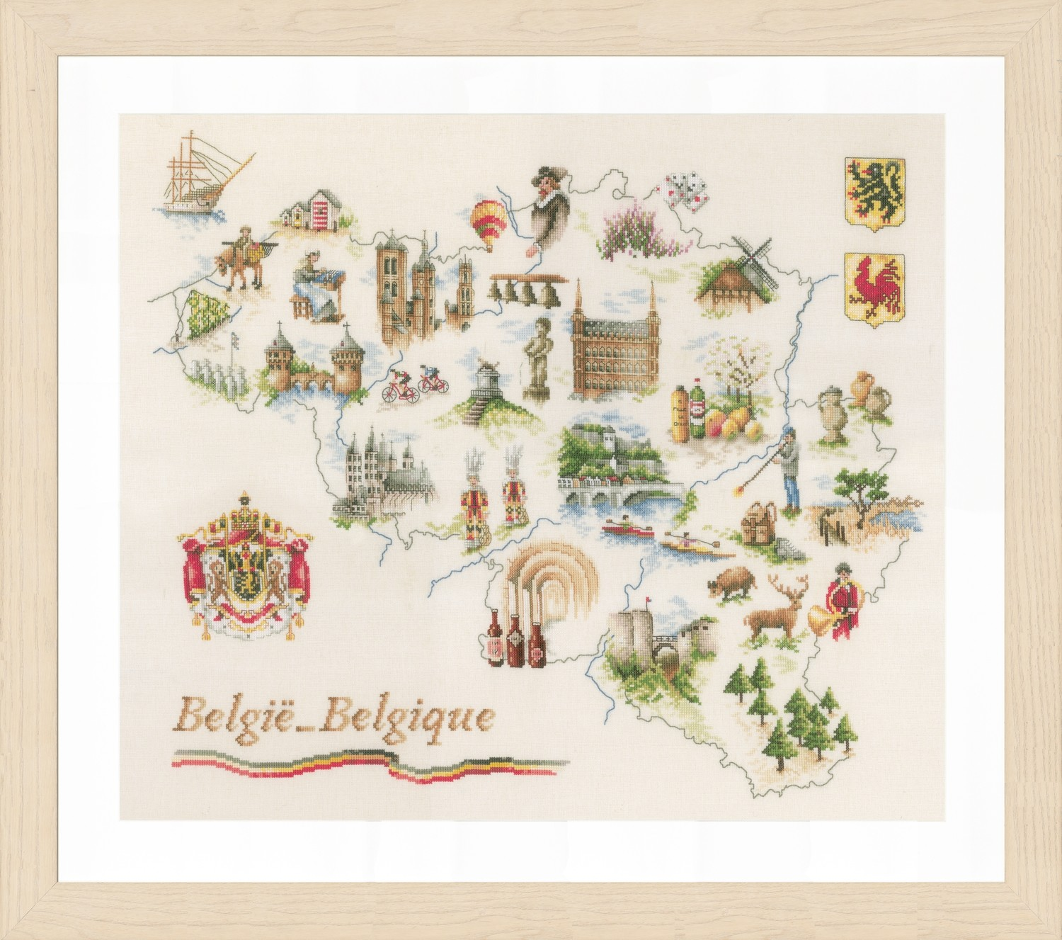 Lanarte Map of Belgium