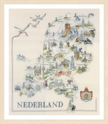 Lanarte Map of Holland