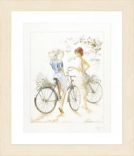 Lanarte Girls on Bicycle by Willem Haenraets