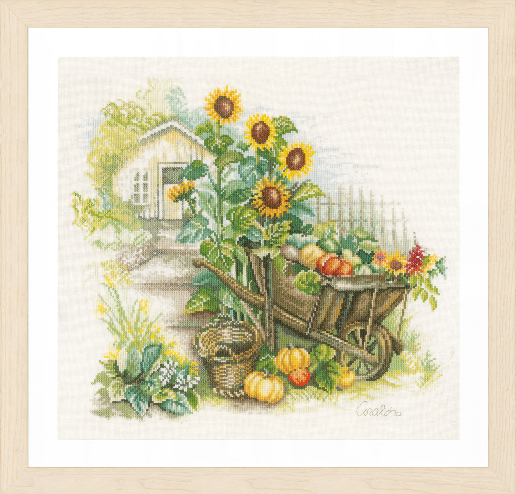 Lanarte Wheelbarrow & Sunflowers by Coraline Bäcker
