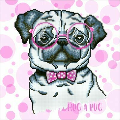Diamand Dotz Hug A Pug