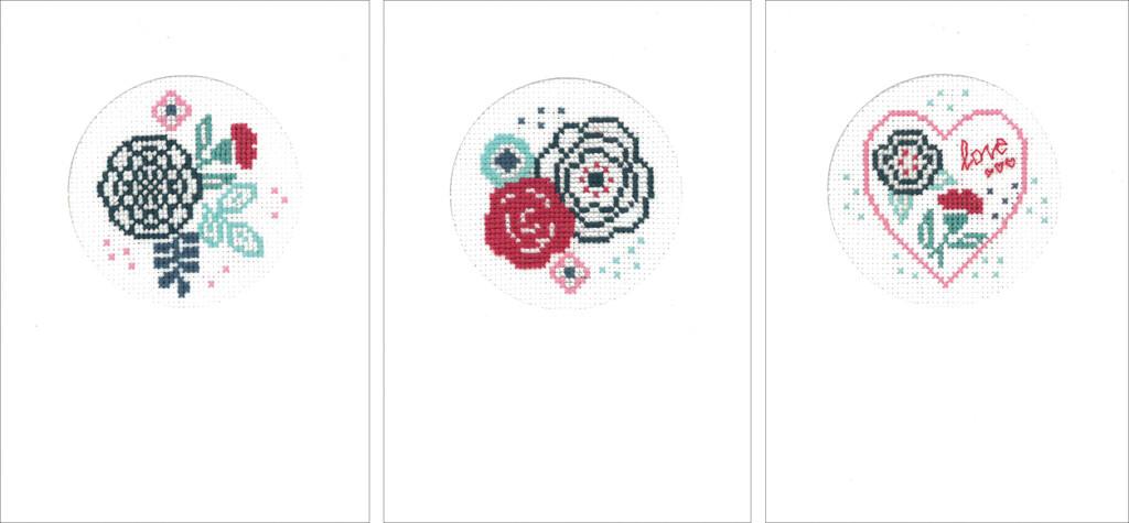 Vervaco Moderne Bloemen set van 3