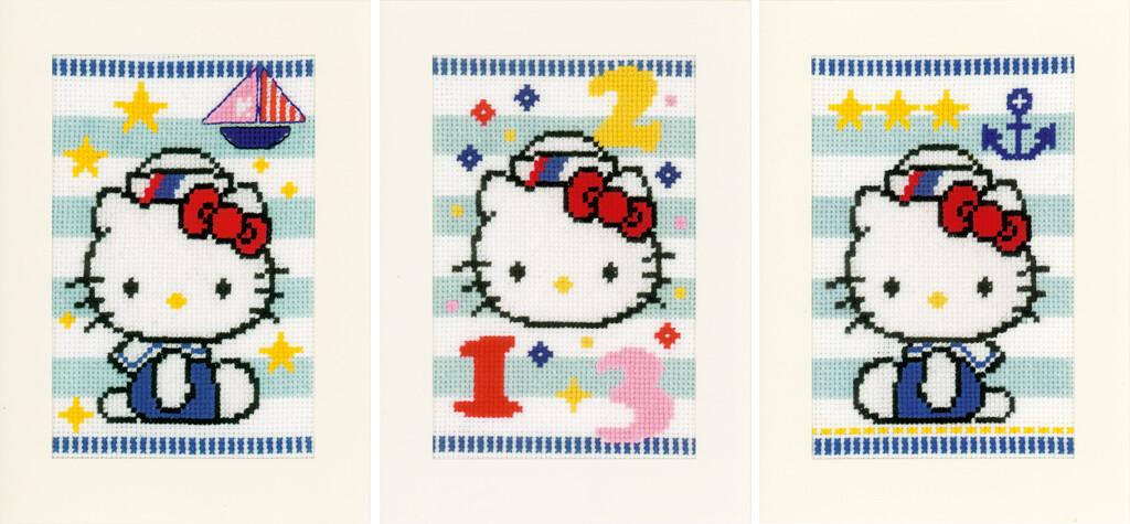Vervaco Hello Kitty Marine set van 3