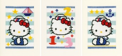 Vervaco Hello Kitty Marine set van 3