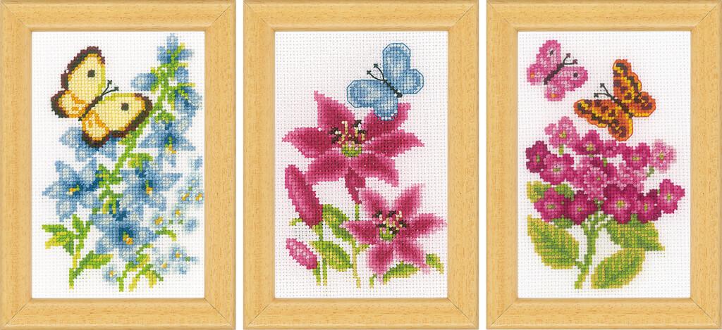 Vervaco Bloemen en Vlinders