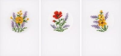 Vervaco Bloemen en Lavendel set van 3