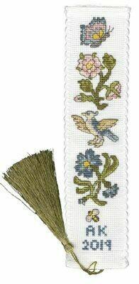 Bothy Threads Rose and Cornflower Bookmark