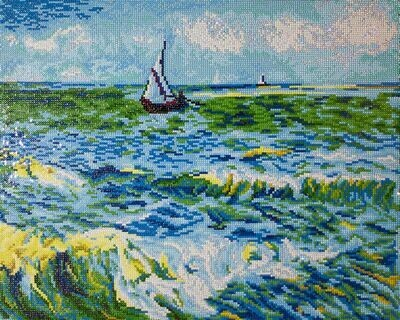 Diamand Dotz Seascape at Saint Maries (Van Gogh)