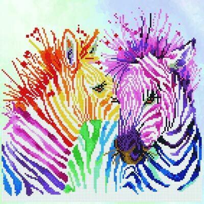 Diamand Dotz Rainbow Zebras