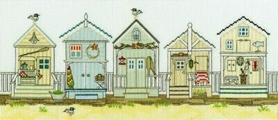 Bothy Threads New England Beach Huts by Sally Swannell