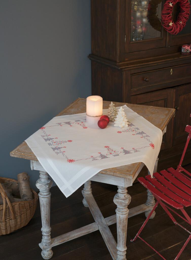Vervaco Kerstbomen in Rood/Grijs
