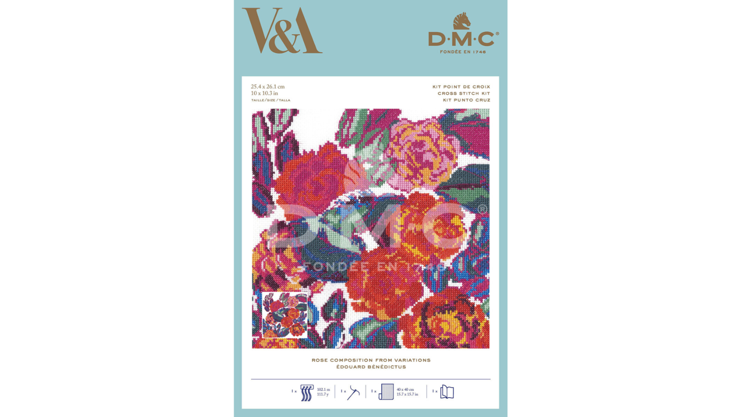 DMC Rose Composition from Variations Edouard Bénédictus