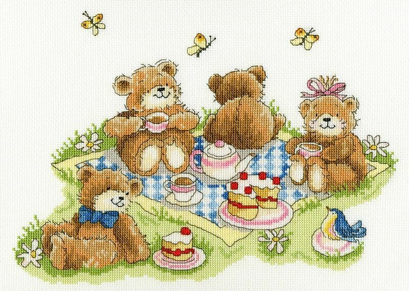 Bothy Threads Teddy Bears' Picnic by Margaret Sherry