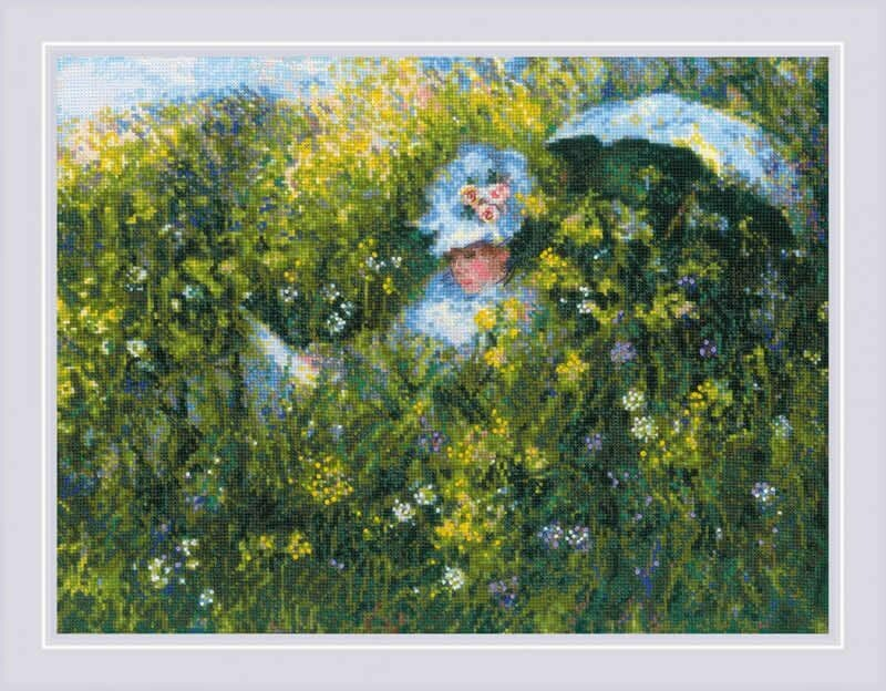 Riolis In The Meadow after C. Monet