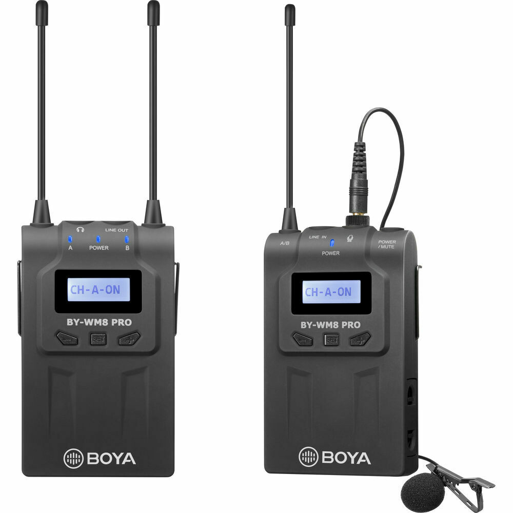 BOYA BY-WM8 Pro-Kit 1 UHF Dual-Channel Wireless Lavalier System