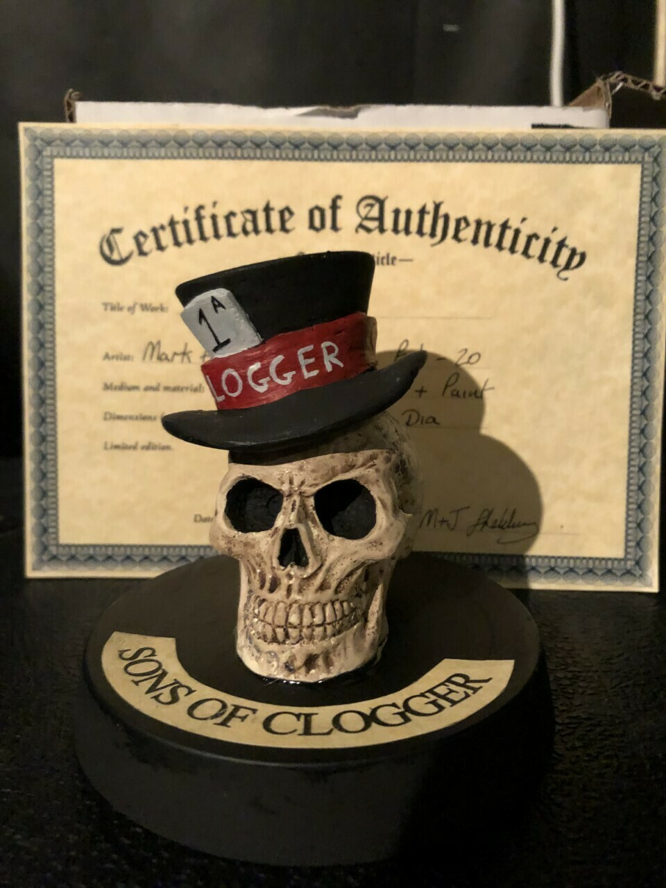 Clogger Bones model (AVAILABLE AT GIGS ONLY)