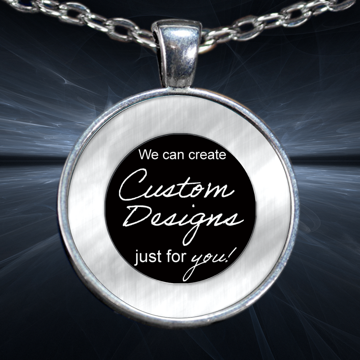 One Inch Circle Pendant and Bracelet - Design Service Only