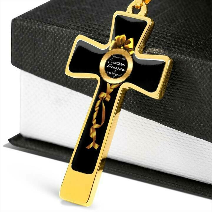 Luxury Custom Cross Necklace -  Design Service Only