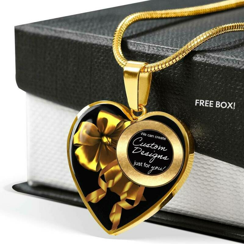 Luxury Heart Necklace or Bangle - Custom Design Service Only