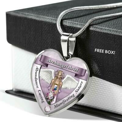 Archangel Ariel Heart Necklace