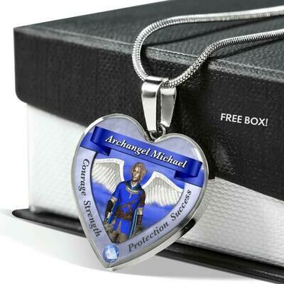 Archangel Michael Heart Necklace
