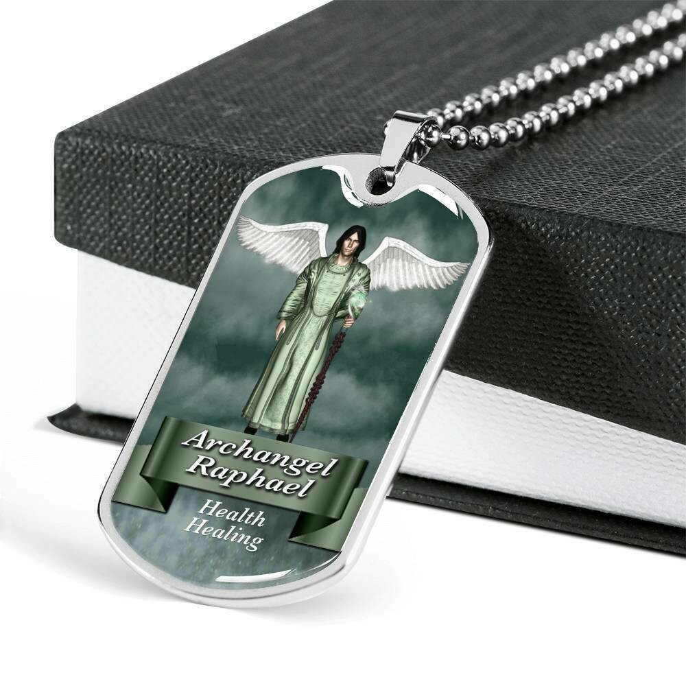 Archangel Raphael Military Dog Tag