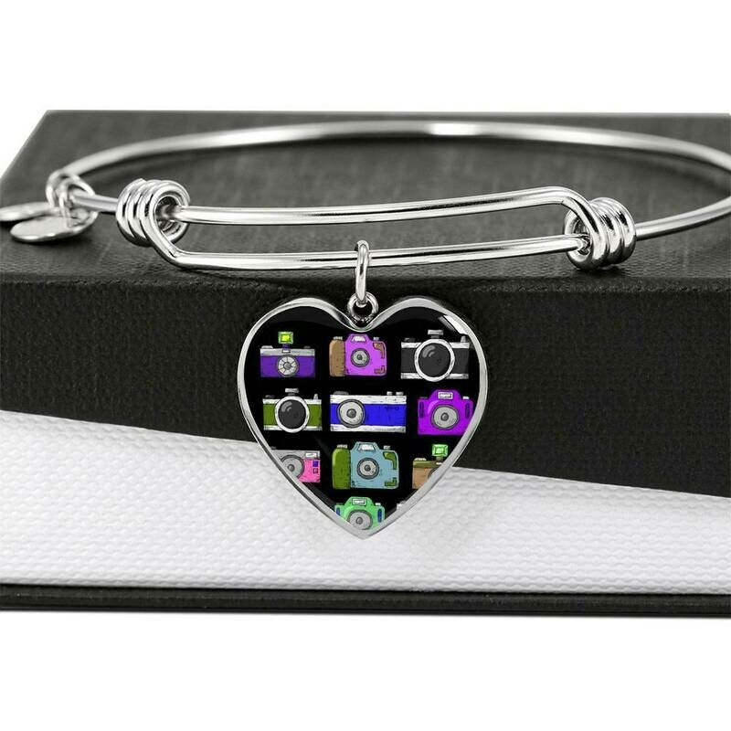 Upload Your Own Photo- Heart Bangle