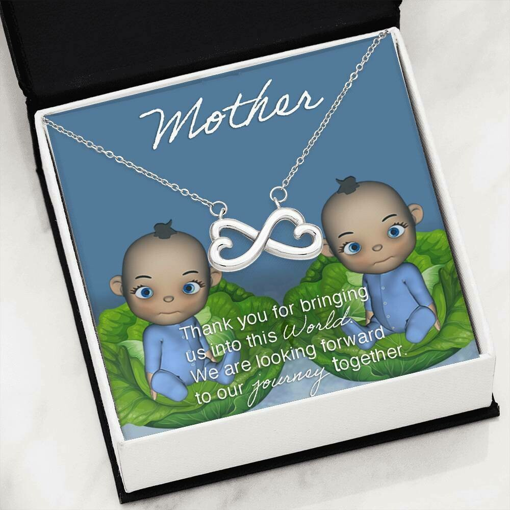 Mother Infinity Necklace (Baby Boy Twins)