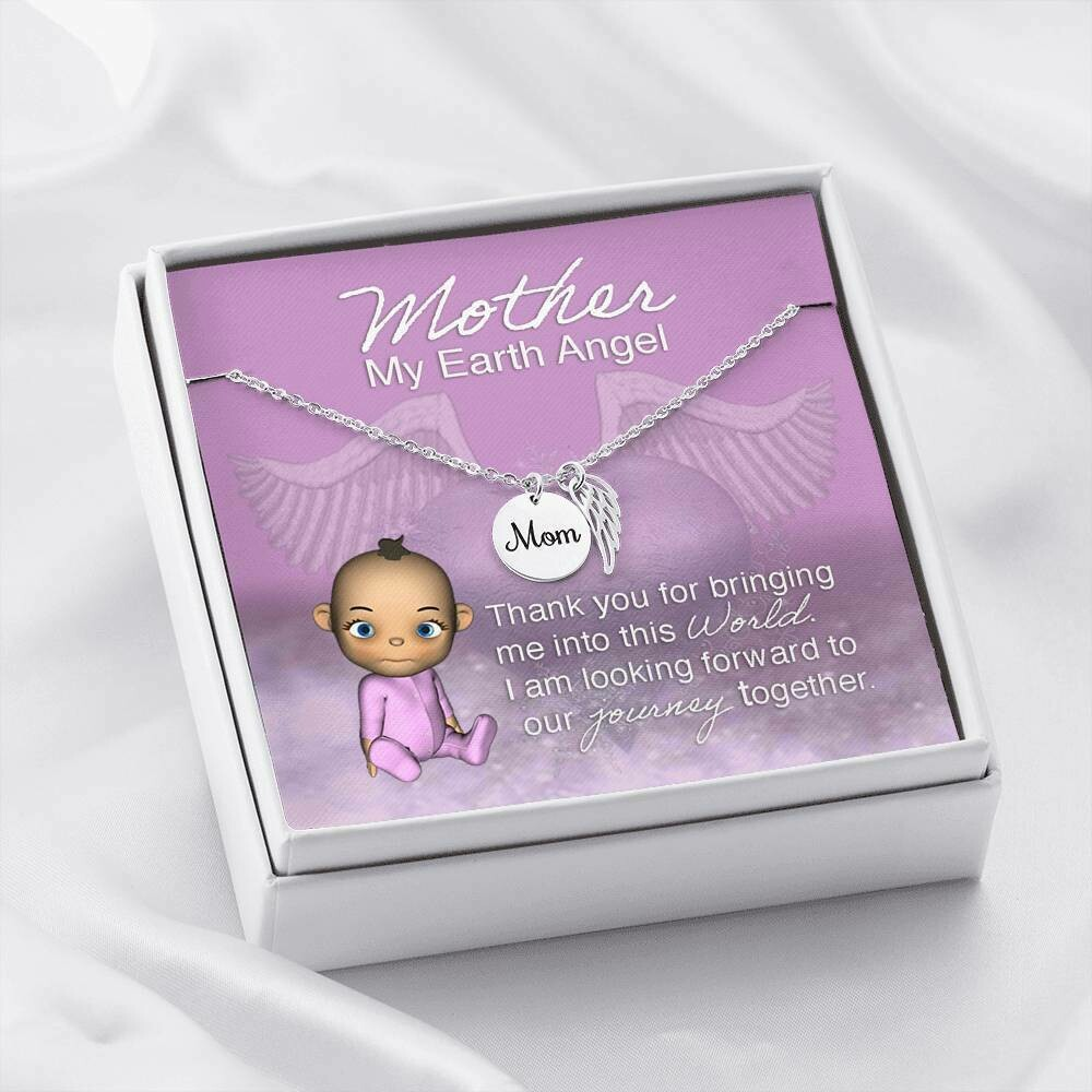 Mother my Earth Angel Necklace (Baby Girl)