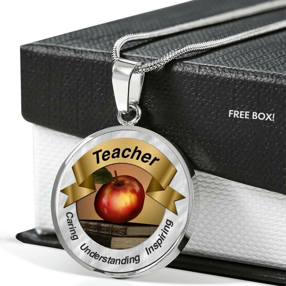 Teacher Red Apple Necklace