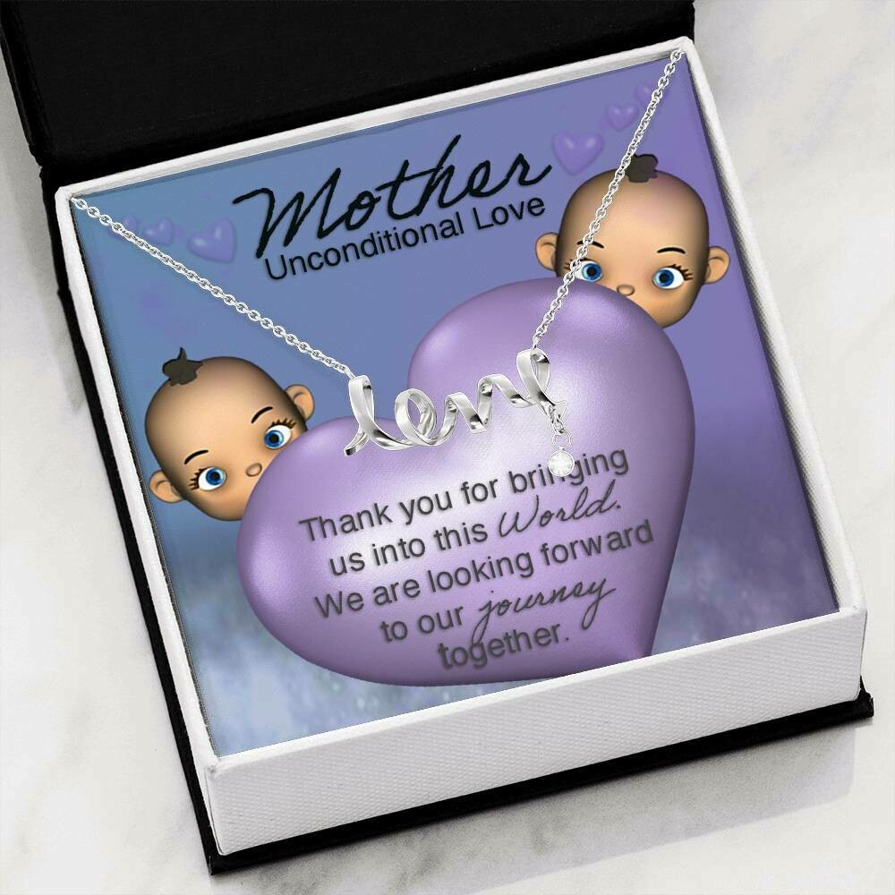 Mother Unconditional Love Necklace (Twins)
