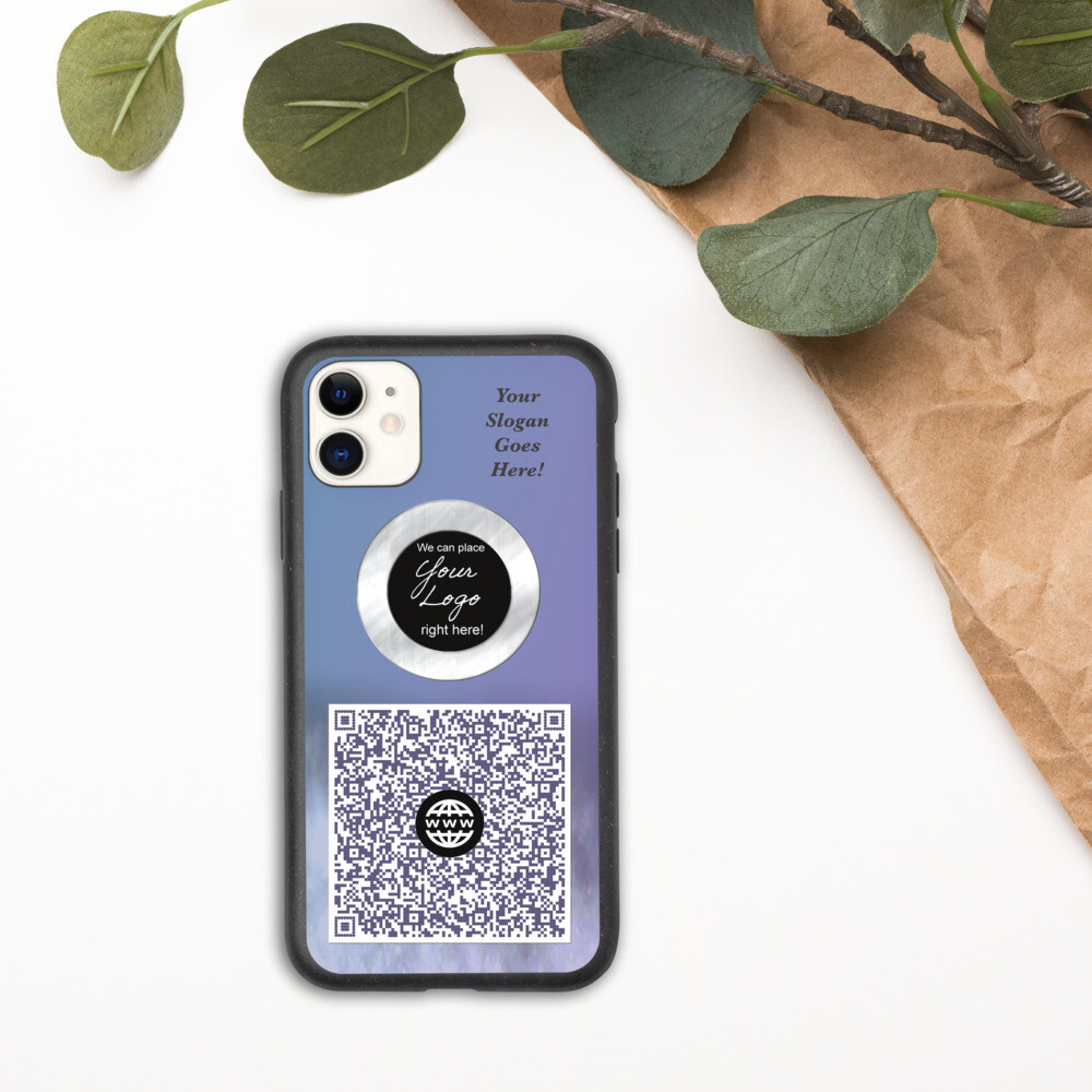 QR Code Biodegradable iPhone case- Custom Designed