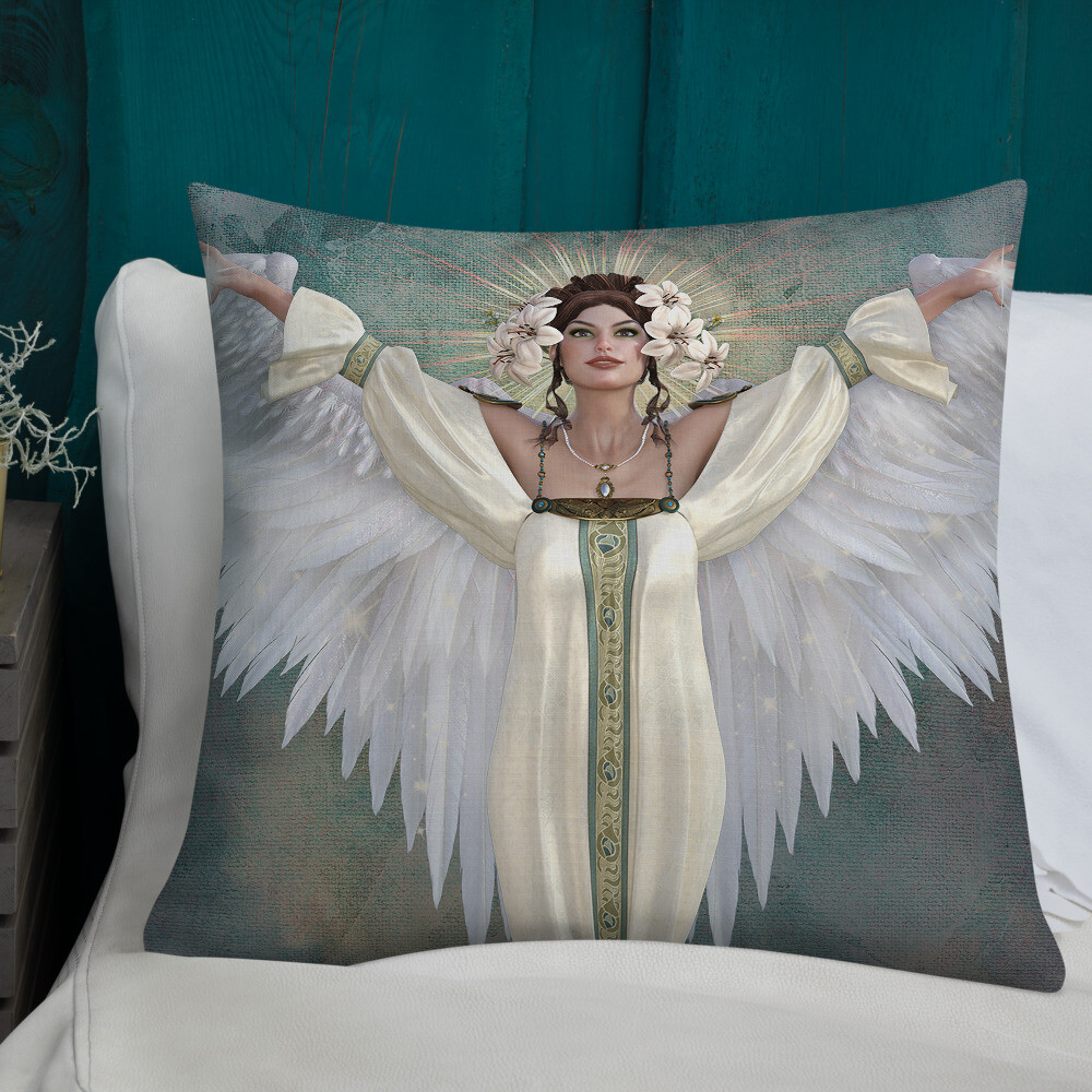 Guardian Angel Premium Custom Cushion- (38 Designs To Choose From)