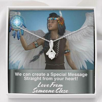 Send A Special Message Card (Alluring Beauty Pendant) - Custom Design Service Only