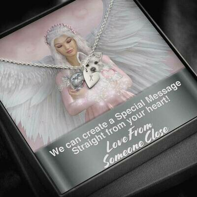 Send A Special Message Card (Sweetest Heart Pendant) - Custom Design Service Only