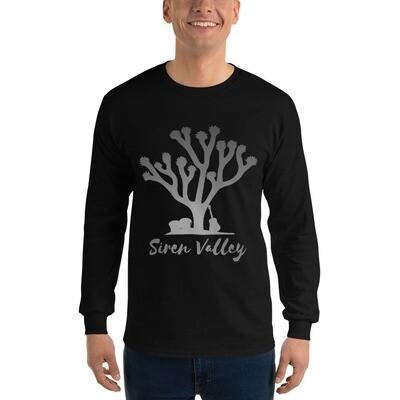 Siren Valley Logo Long Sleeve Unisex T-Shirt (Grey)