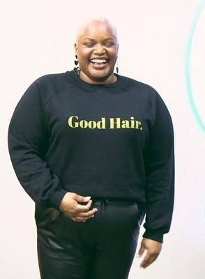 Good Hair. Pullover Crop Fleece