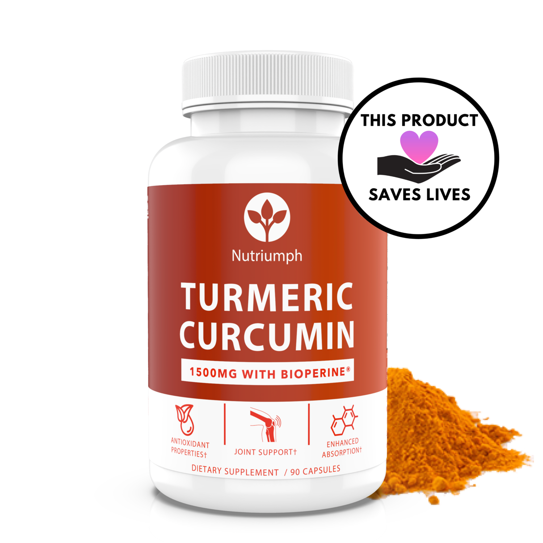 TURMERIC CURCUMIN w/ Bioperine - Joint Support & Potent Antioxidant