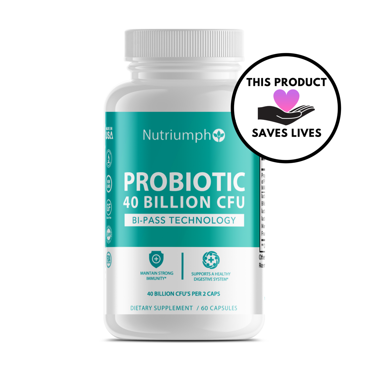 PROBIOTIC 40 BILLION CFU - Digestive Aid & Gut Health