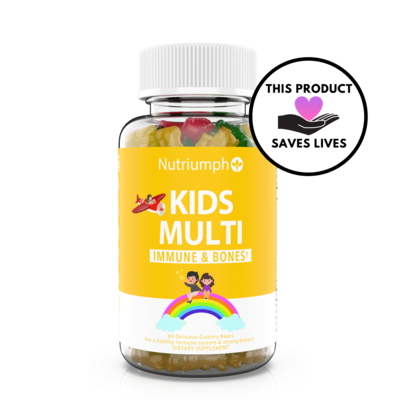 KIDS MULTIVITAMIN - Vitamin A, C, D3, E and Zinc Supplements for Immunity, Strong Bones & Energy
