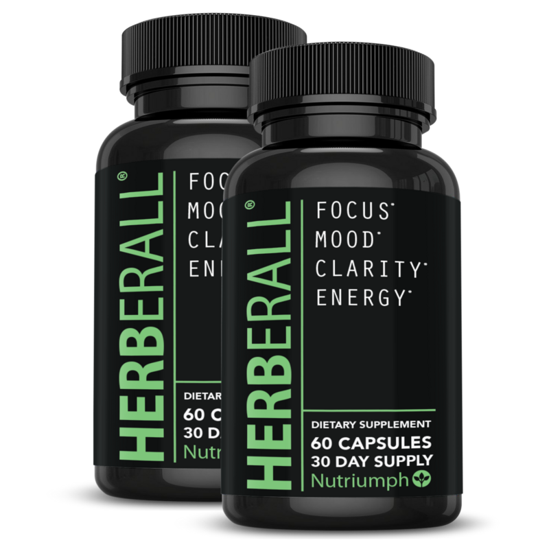 HERBERALL® - Improve Memory & Concentration, Focus Brain Support (x2 Bottles)