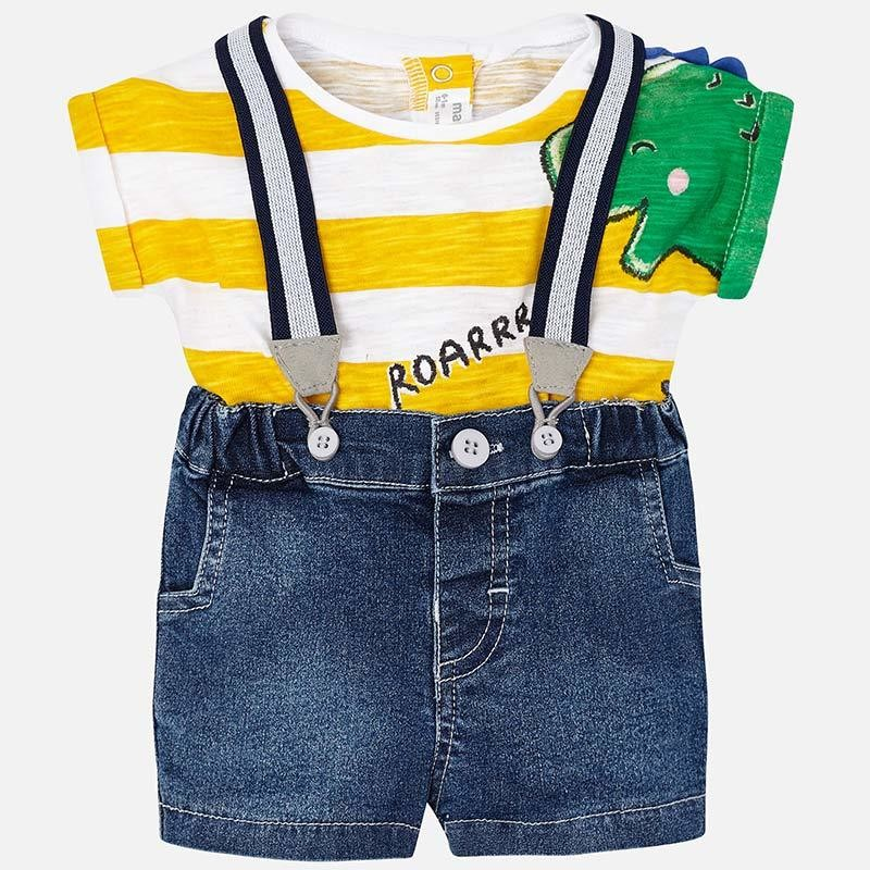 Suspender Shorts Set 1217 12m