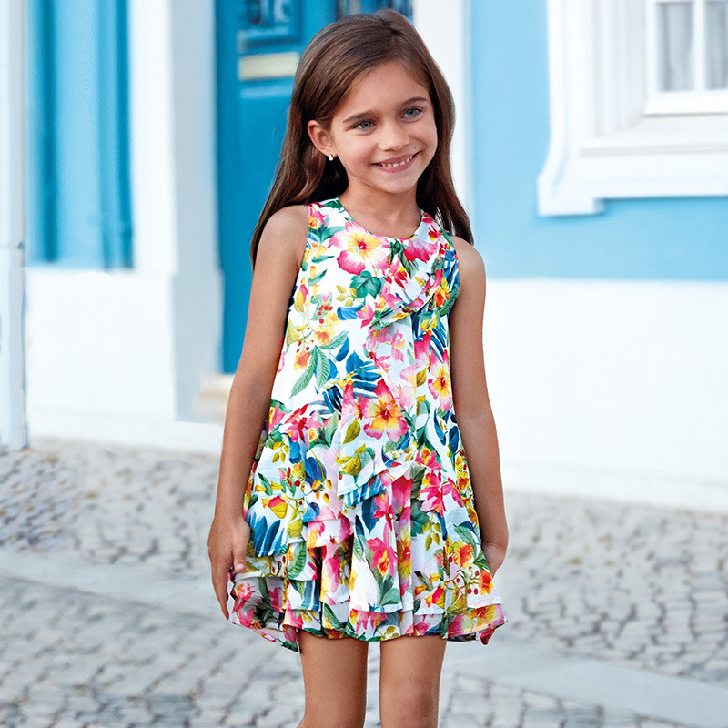 Tropical Print Dress 3941 - 8