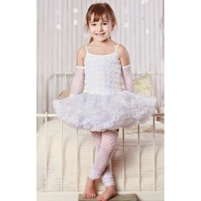 White Pettidress 6/8y
