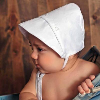 Boy White Bonnet 3/6m