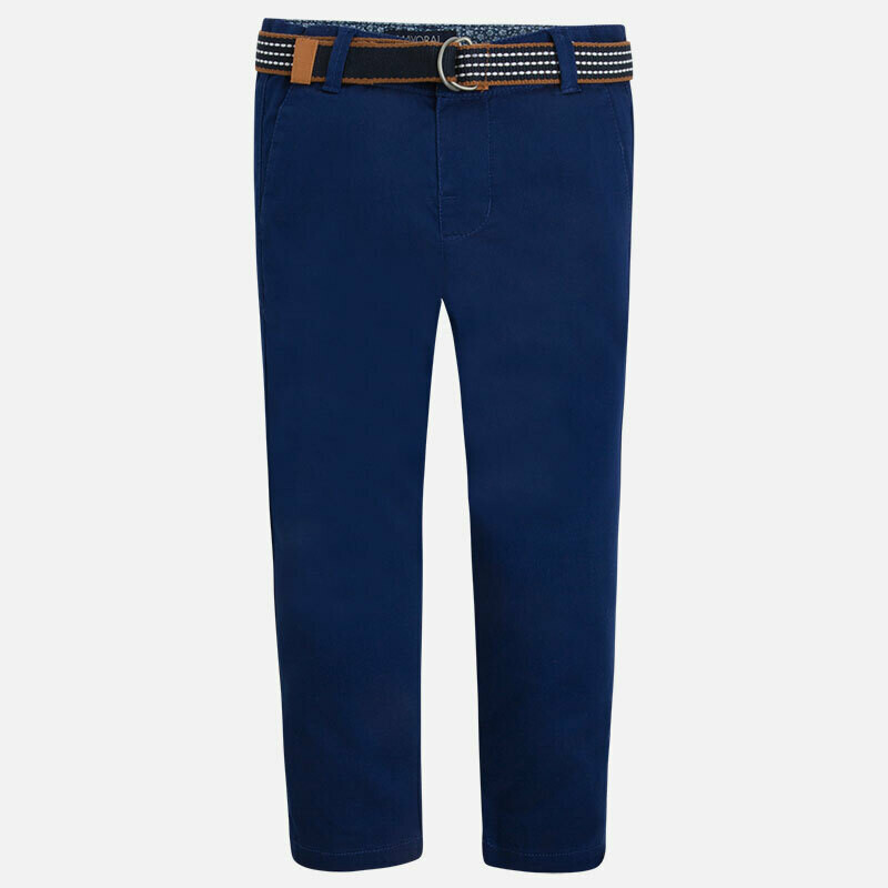 Belted Twill Pants 3503A-2