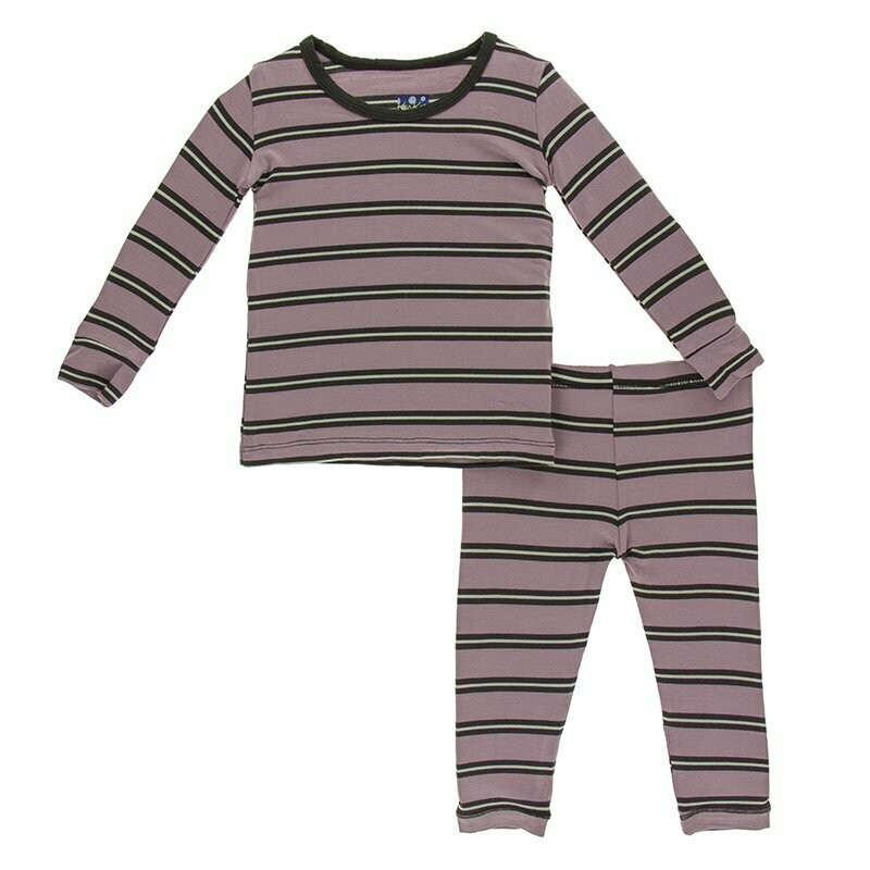 Elderberry Stripe Pajama Set -  5
